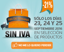 Finde sin IVA - Septiembre 2016